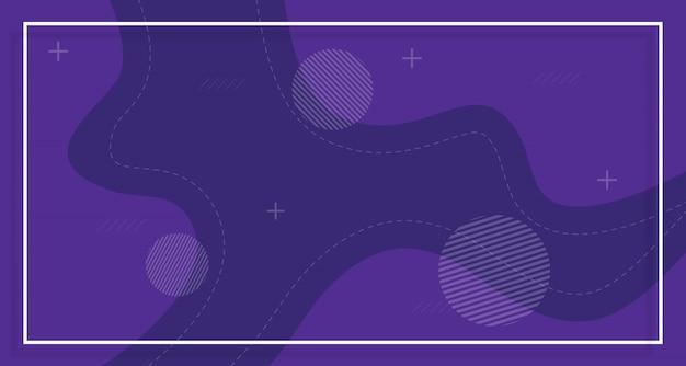Paarse banner verkoop achtergrond, met abstracte vormen Premium Vector