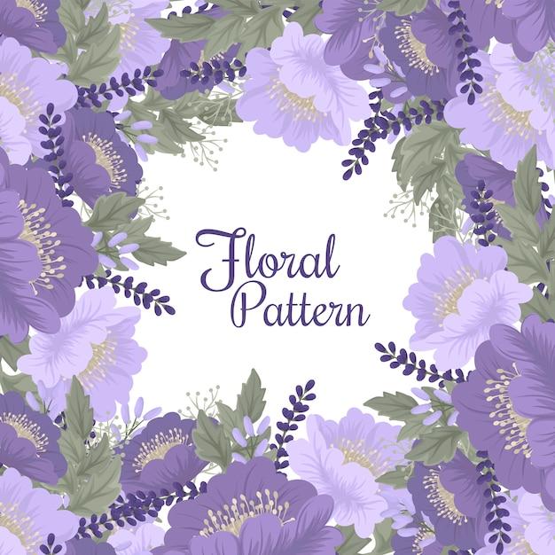 Paarse bloem illustratie Gratis Vector