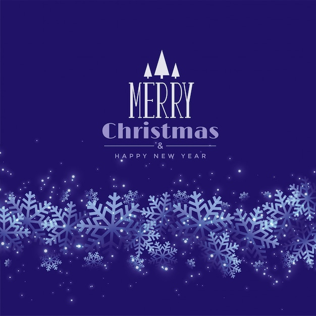 Paarse of blauwe sneeuwvlok kerstmis Gratis Vector