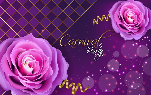 Paarse rozen Premium Vector