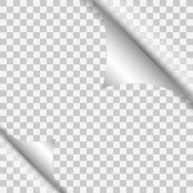 Pagina krul ontwerp Gratis Vector