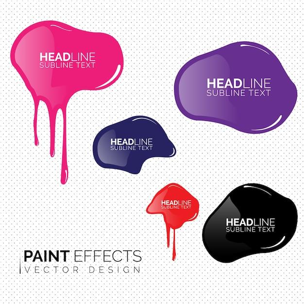 Paint effecten collectie Gratis Vector