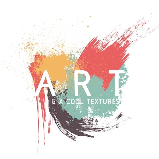 Paint textures achtergrond ontwerp Gratis Vector