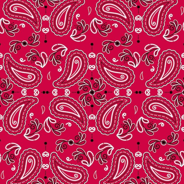 Paisley bandana-patroon Gratis Vector