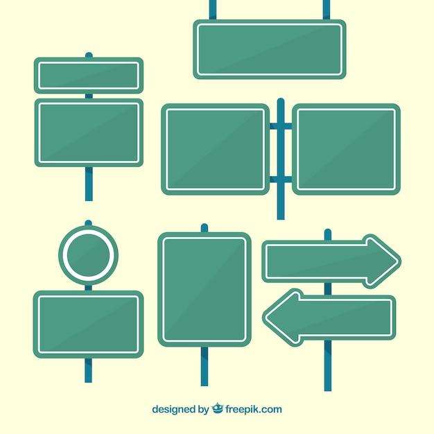 Pak adresadresplaten in vlak ontwerp Gratis Vector