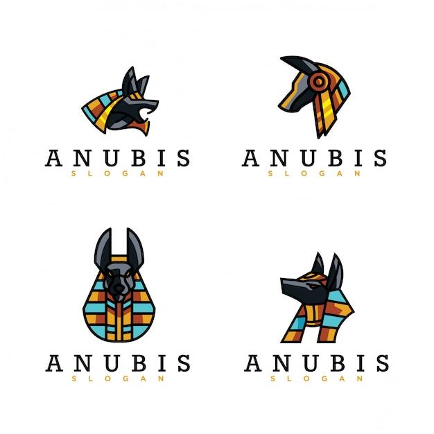 Pak van anubis-logo Premium Vector