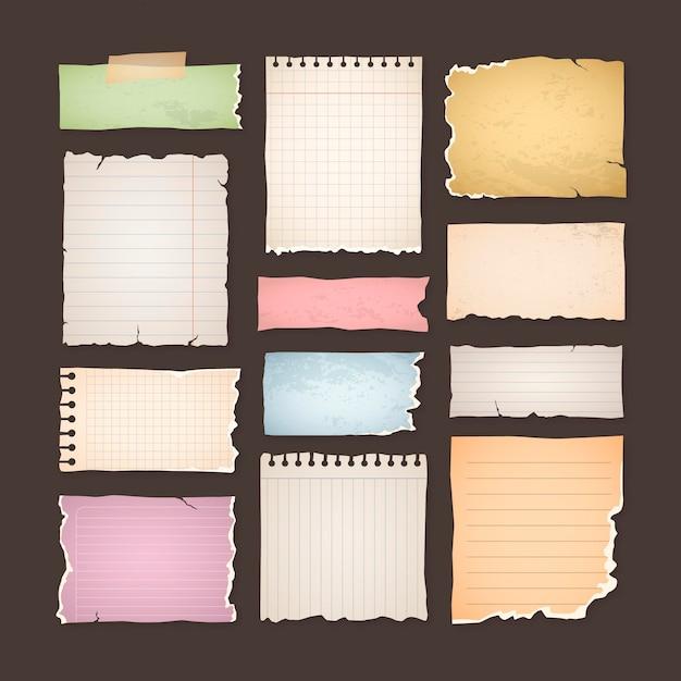 Pak vintage plakboekpapieren Gratis Vector