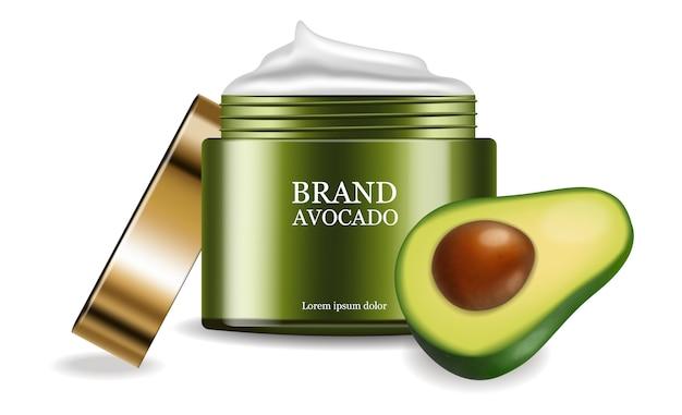 Pakket voor plaatsing van avocadocrème Premium Vector