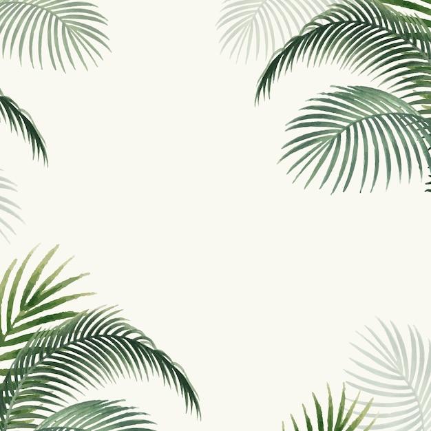 Palm bladeren mockup illustratie Gratis Vector