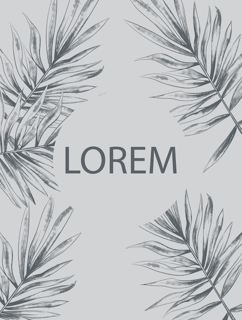 Palm laat zomer Premium Vector