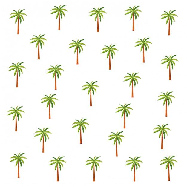 Palmen patroon achtergrond cartoons Gratis Vector