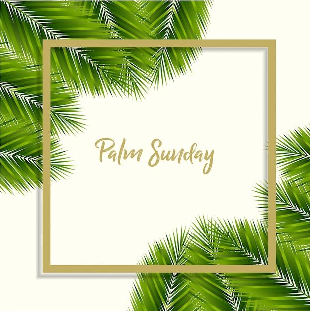 Palmzondag achtergrond Premium Vector