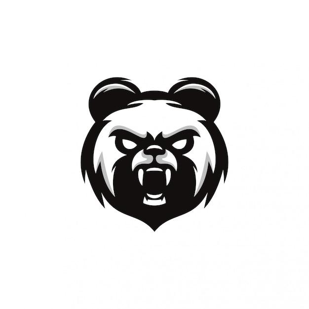 Panda-logo Premium Vector
