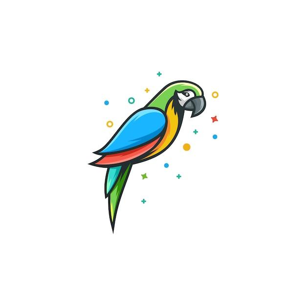 Papegaai illustratie vector sjabloon Premium Vector