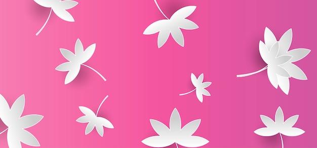 Paper floral banner achtergrond Premium Vector