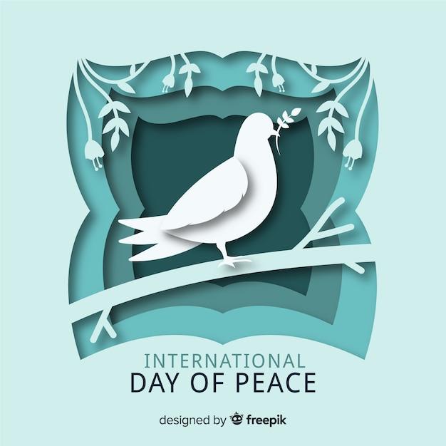 Paper internationale dag van de vrede Gratis Vector