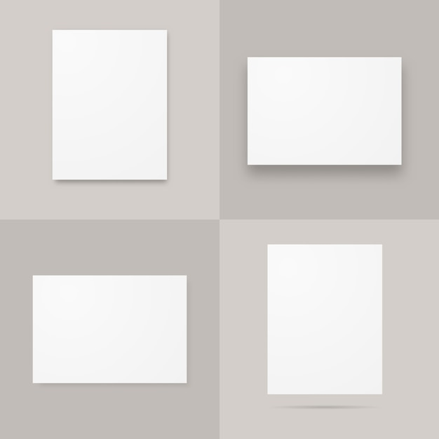 Papieren a4-posters Premium Vector
