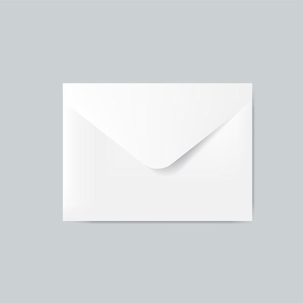 Papieren envelop ontwerp mockup vector Gratis Vector