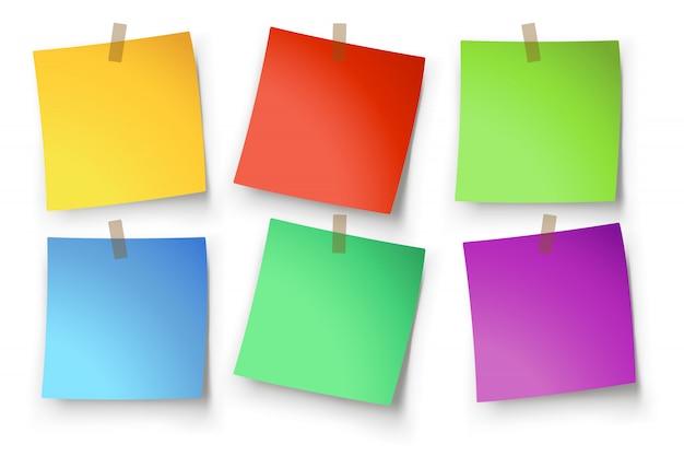 Papieren etiketten Premium Vector
