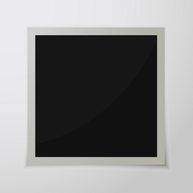 Papieren fotolijst met schaduw. retro fotolijst geïsoleerd Premium Vector