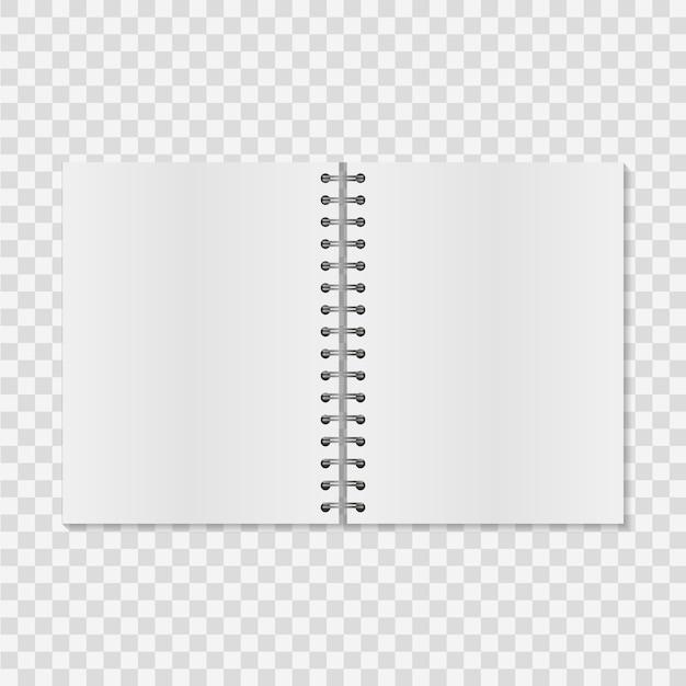 Papieren notitieboek Premium Vector