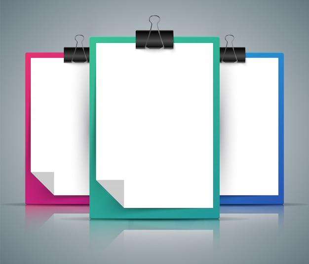 Papieren tablet Premium Vector