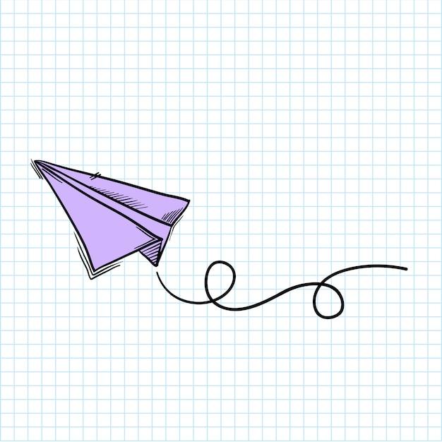 Papieren vliegtuig Gratis Vector
