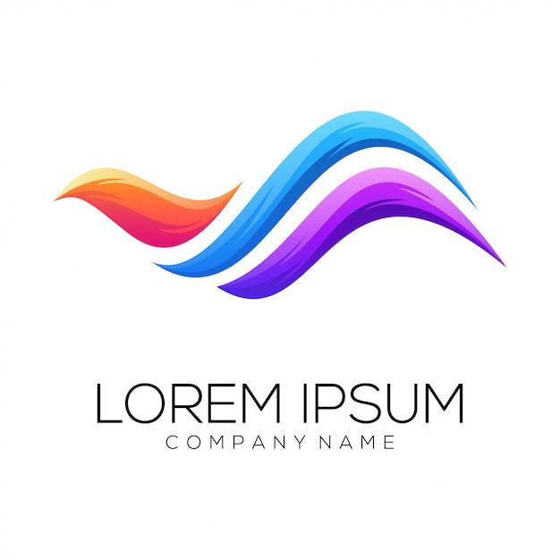 Paradijs vogel logo ontwerp vector Premium Vector