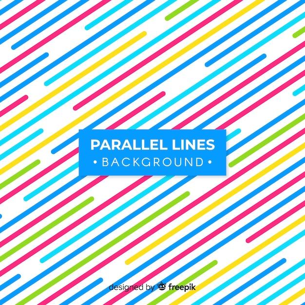 Parallelle lijnen achtergrond Gratis Vector