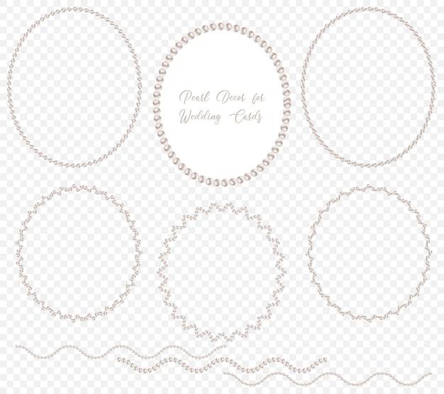 Parel krans voor bruiloft decoratie Premium Vector