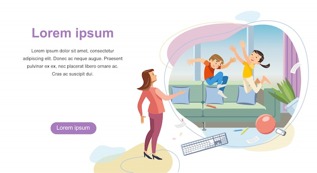 Parenting starting landing page vector template Premium Vector