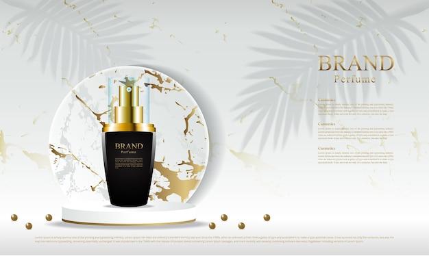 Parfum advertentie sjabloon Premium Vector