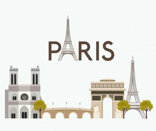 Parijs ontwerp Premium Vector