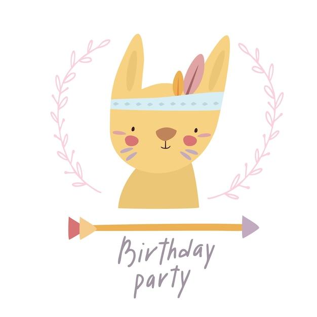 Partij verjaardag haas pijl Gratis Vector