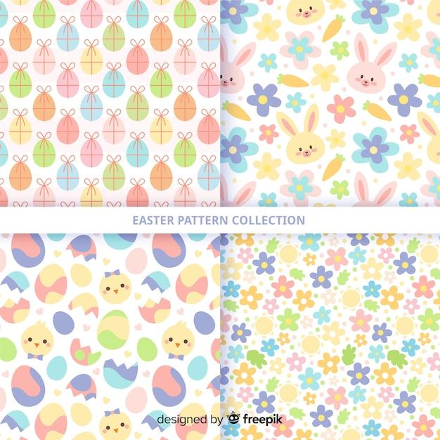 Pasen-patrooninzameling Gratis Vector