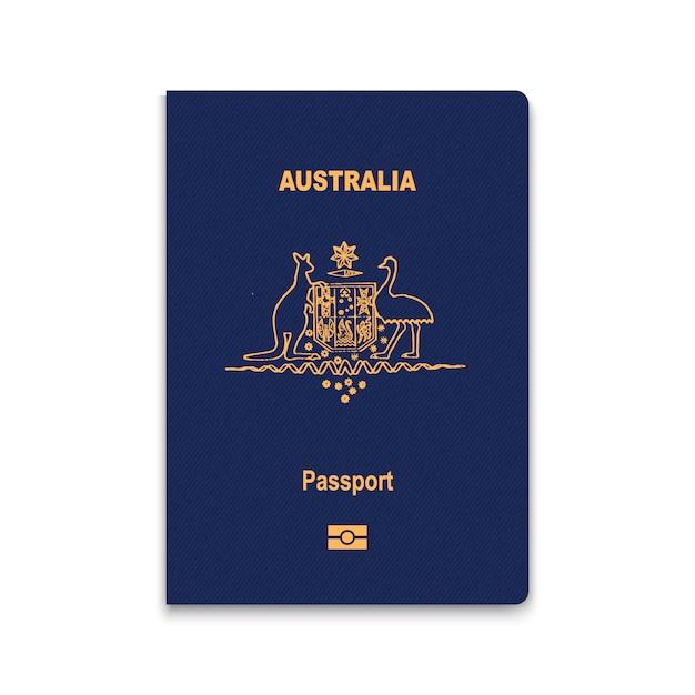 Paspoort van australië Premium Vector