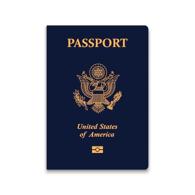 Paspoort van de verenigde staten Premium Vector