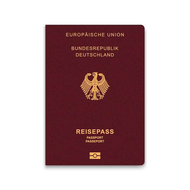 Paspoort van duitsland Premium Vector