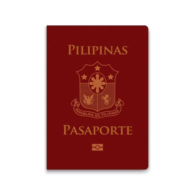 Paspoort van filippijnen Premium Vector