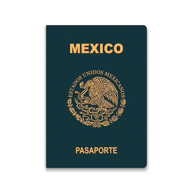 Paspoort van mexico Premium Vector