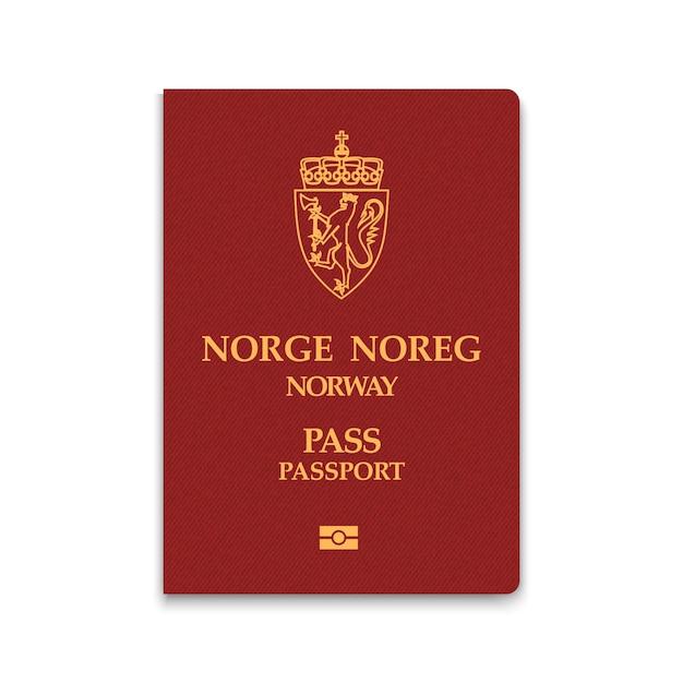Paspoort van noorwegen Premium Vector