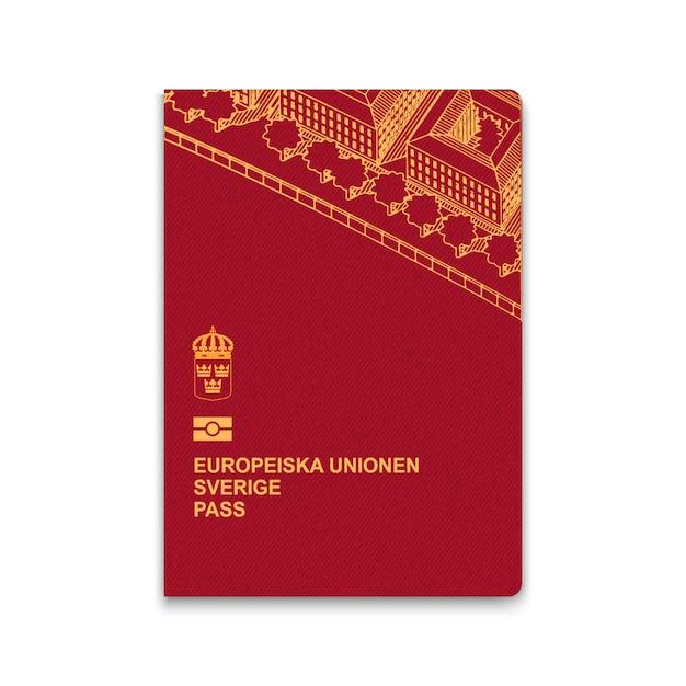 Paspoort van zweden Premium Vector