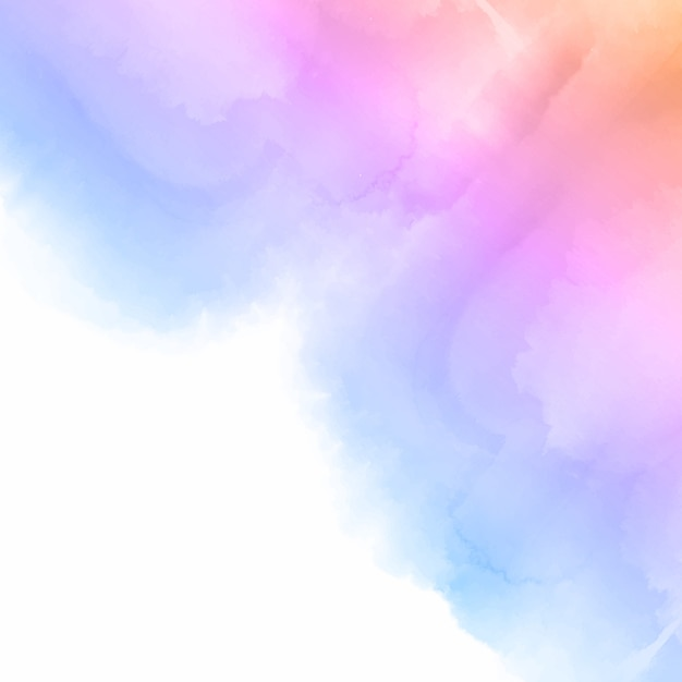 Pastel gekleurde aquarel achtergrond Gratis Vector