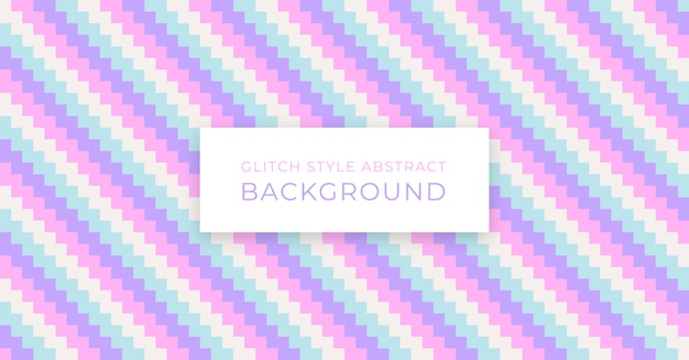 Pastel glitch stijl abstracte achtergrond Premium Vector