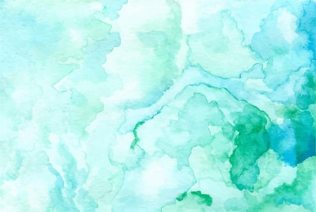 Pastel groene aquarel abstracte achtergrond Premium Vector