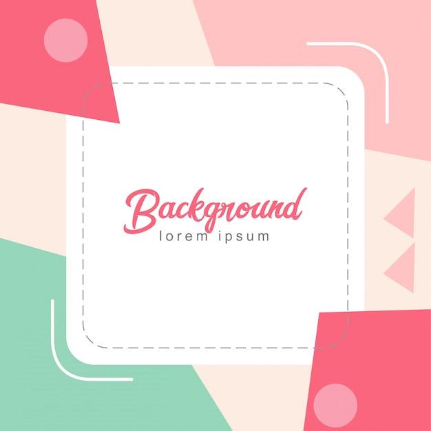 Pastel kleuren minimalistische achtergrond Premium Vector