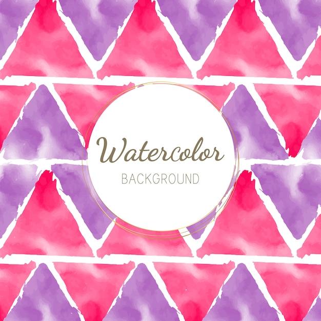 Pastel patroon aquarel achtergrond vector Gratis Vector