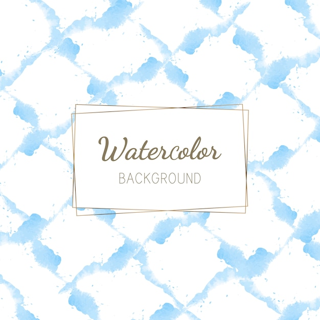 Pastelkleur blauwe waterverf achtergrondvector Gratis Vector