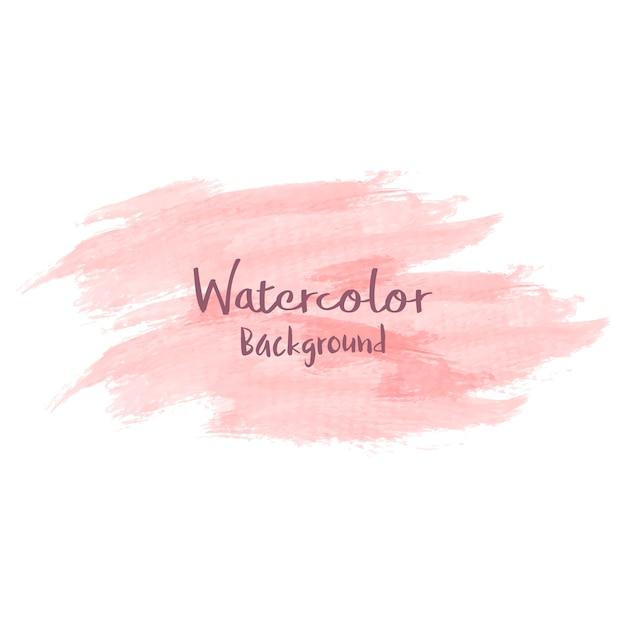 Pastelkleur perzik aquarel achtergrond vector Gratis Vector