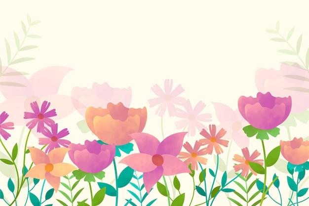 Pastelkleuren aquarel bloemen achtergrond Gratis Vector